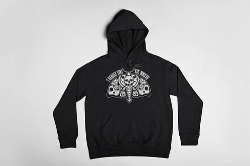 SkullMoth Black Hoodie