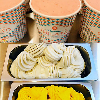 Marion's Gelato available in 3 different sizes