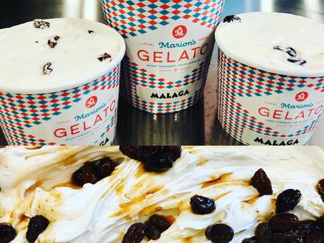 Introducing Marion's Gelato new flavor Malaga