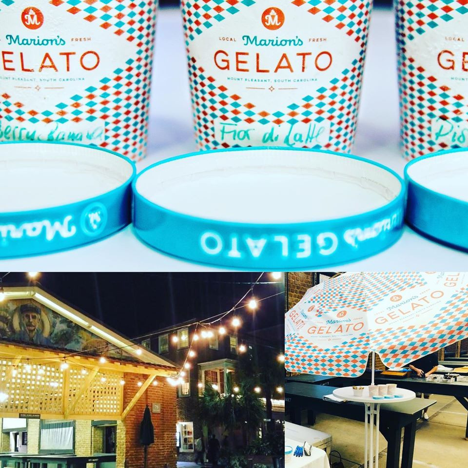 Marion's Gelato is available at the Charleston City Night Market on Fridays and Saturdays from 6:30-10:30 pm.