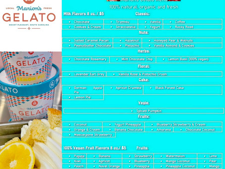Marion's Gelato today at RiverTowne Country Club
