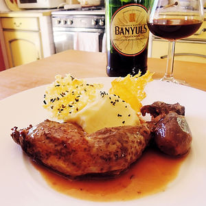 Guinea fowl with Banyuls wine