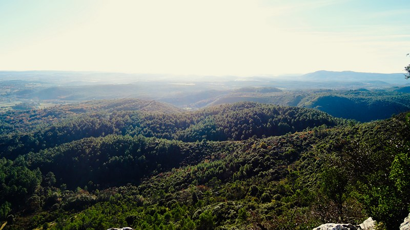 easy walk near anduze - nice view on the cevennes