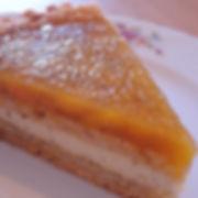 Mango and passion fruit tart