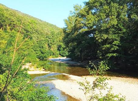 Balade près d'Anduze, le long de la rivière le Gardon de Mialet