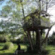 tree house in the garden of B&B