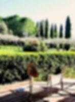 Près d'Anduze terrasse et jardin de la villa
