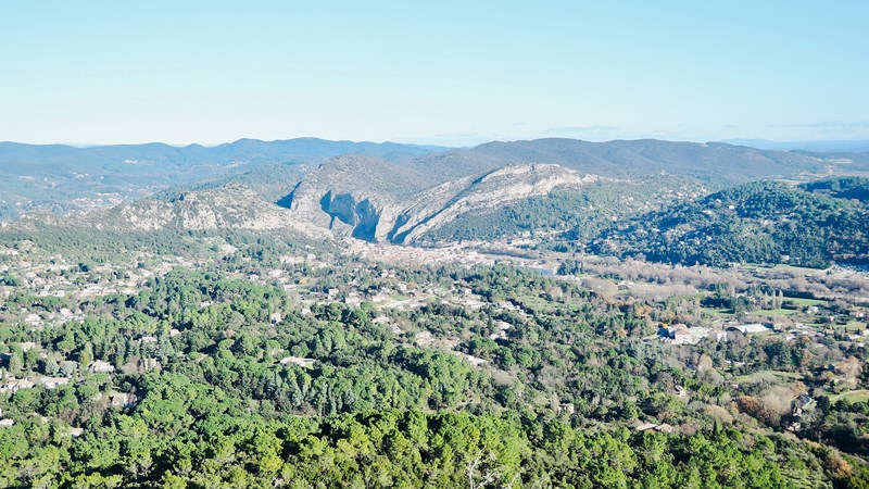 hikes near anduze - nice view on anduze