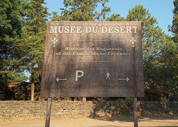 panneau musee du desert prés d'Anduze