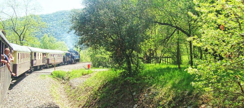 Train à vapeur entre Anduze et Saint Jean du Gard