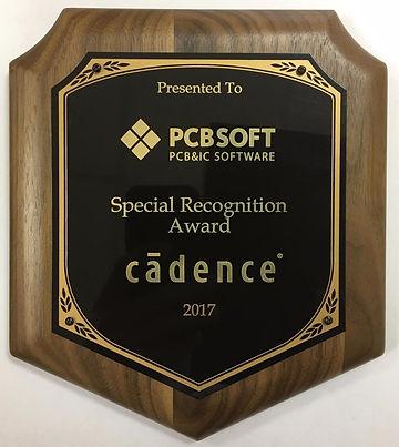 Награда PCBSOFT от Cadence за 2017 год