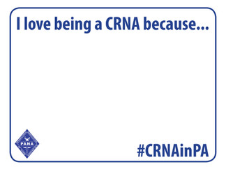 Share your #CRNAinPA selfie!