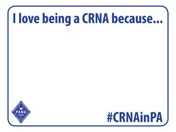Share your #CRNAinPA selfie!