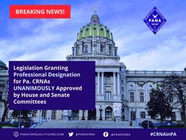 House & Senate Committees Approve Legislation to Grant Professional Designation for CRNAs