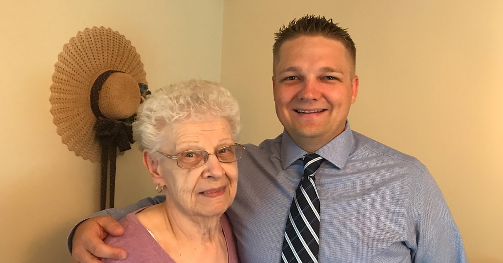 Rep. Bernstine and his grandmother, Stella Rybka