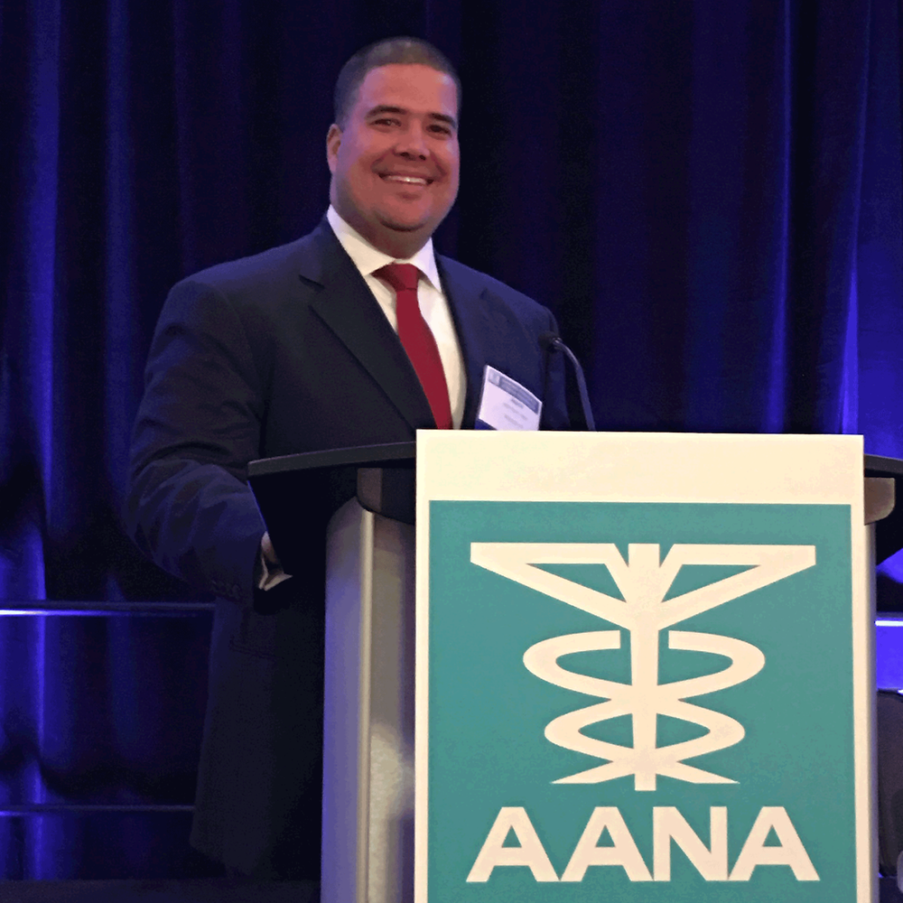 Jason Bauer at AANA Mid-Year Assembly