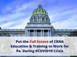 PANA Letter to Gov. Wolf RE: Authorizing Professional Designation to Facilitate Crisis Response
