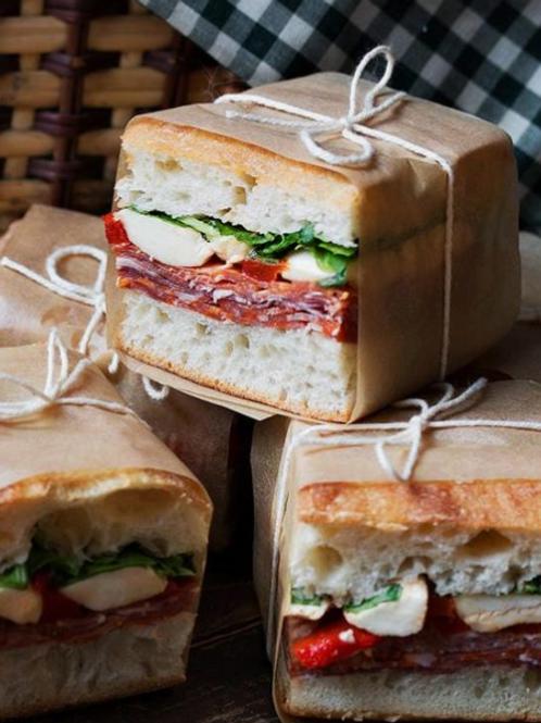 Frisksmurte italienske sandwiches