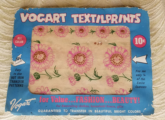 50's Floral Print Hot Iron Transfer
