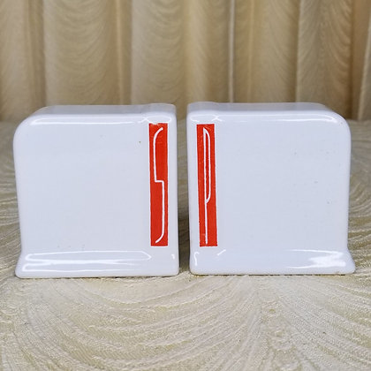 Art Deco Salt & Pepper Shakers Porcelain
