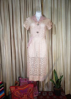 1950's Tea Dress with Stoned buttons
