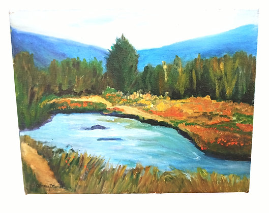 Hand painted Riverbank