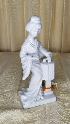 "Porcelain Japanese Geisha 10"" Figurine"