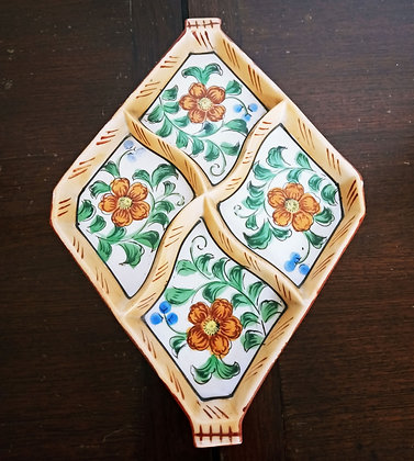 Ceramic Tray with Flowers