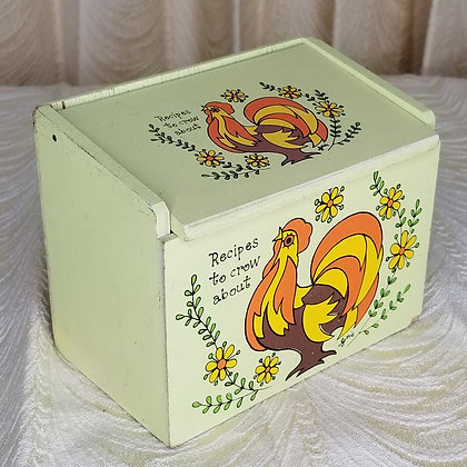 Vintage Rooster Recipe Box