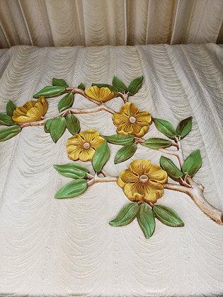 Vintage Yellow Flower Wall Art