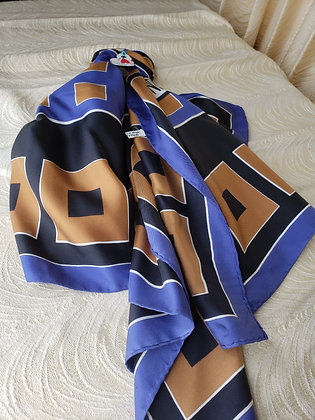 Norrell Blue, Brown and Black Scarf