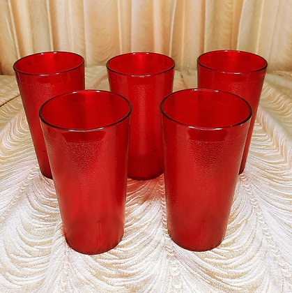 Five Medium Texas Plastics Tumblers