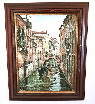 1960's Italy Venice Painting