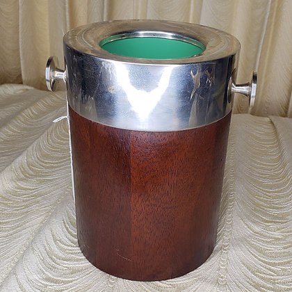 Wine Chiller Silver and Rosewood
