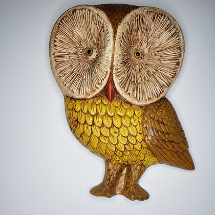 1970's Plaster Owl