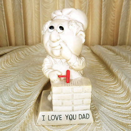 """Russ Berrie """"I love you Dad"""" Statue"""