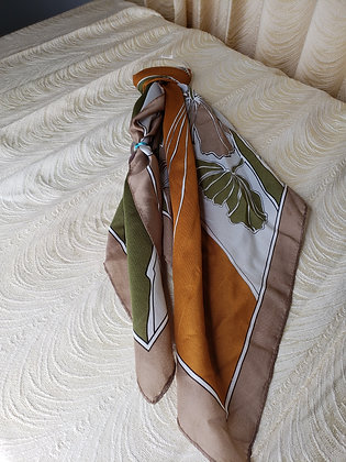Brown, Orange and Green Scarf