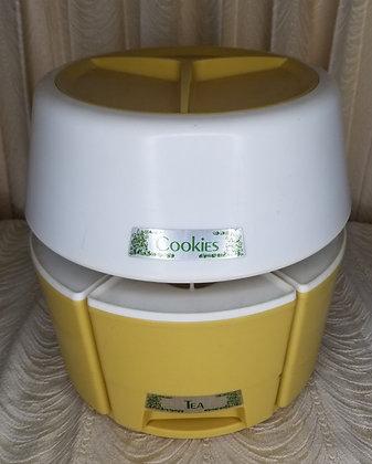 Vintage Lazy Susan Kitchen Container Set