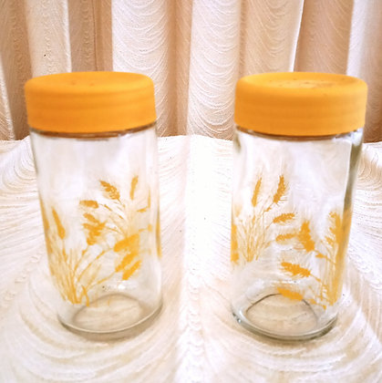 Wheat Pattern Salt and Pepper Shakers