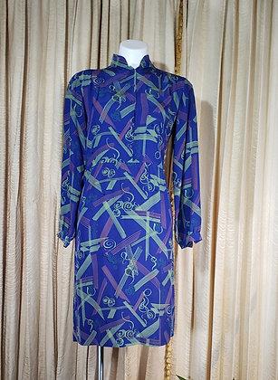 Diane Von Furstenberger Silk Dress 1970's