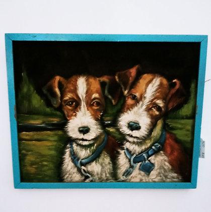 Sweet Doggies on Velvet
