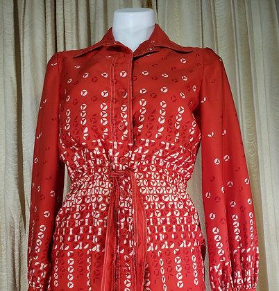 1970's Abe Schrader Shirt Dress