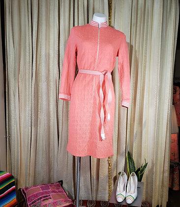 1960's Pink Knit Dress
