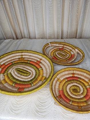Vintage Kenyan Woven Baskets