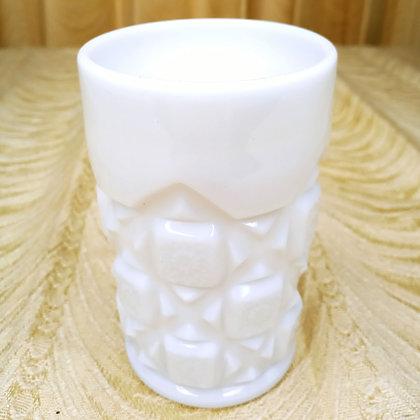 White Milkglass Tumbler