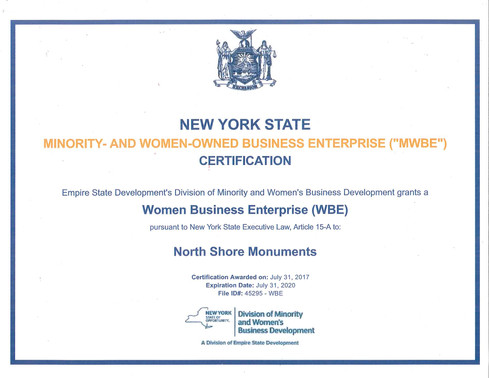 NYS MWBE Certification
