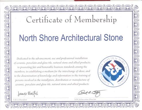 NTCA Certificate