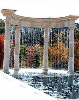 Masonry Pool Fountain and Patio