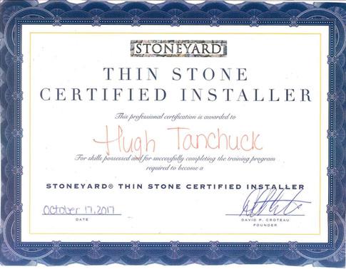 Stoneyard Thin Stone Certified Installer
