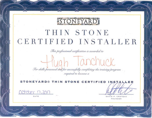Stoneyard Thin Stone Certified Installer